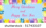 merry christmas and happy new... | Shutterstock .eps vector #517433107