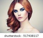 portrait of beautiful sensual...   Shutterstock . vector #517438117