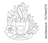 vector coffee or tea cup.... | Shutterstock .eps vector #517444273
