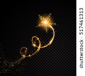 gold glittering spiral star... | Shutterstock .eps vector #517461313