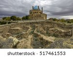 ruins of historical wall around ... | Shutterstock . vector #517461553