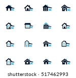 house type icon set for web... | Shutterstock .eps vector #517462993