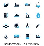 extraction of oil icons set for ... | Shutterstock .eps vector #517463047