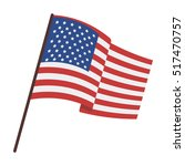 flag of the united states icon... | Shutterstock . vector #517470757
