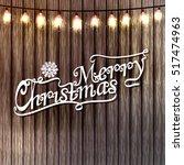 merry christmas card.  vector | Shutterstock .eps vector #517474963