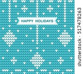 knitted christmas pattern with... | Shutterstock .eps vector #517478263