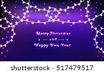 garlands on bright christmas... | Shutterstock .eps vector #517479517