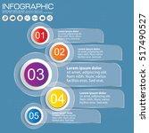 white circles menu options... | Shutterstock .eps vector #517490527