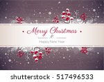 merry christmas and happy new... | Shutterstock .eps vector #517496533