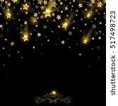 salute of golden falling stars...   Shutterstock . vector #517498723