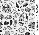 farming seamless pattern. farm  ... | Shutterstock .eps vector #517499473