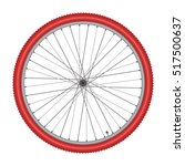 bicycle wheel on white... | Shutterstock .eps vector #517500637