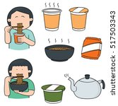 vector set of noodle | Shutterstock .eps vector #517503343