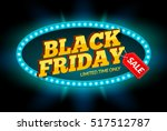 black friday sale frame design... | Shutterstock .eps vector #517512787
