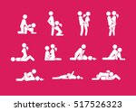 Stock vector set of sex position icons 517526323