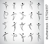 vector set of abstract human... | Shutterstock .eps vector #517526557