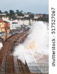storm waves breaking over... | Shutterstock . vector #517527067