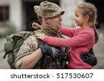 Soldier On Leave Hugging...