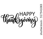 happy thanksgiving brush hand...   Shutterstock .eps vector #517541083