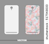 phone cover pink and blue... | Shutterstock .eps vector #517543033