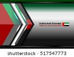 united arab emirates flag color ...   Shutterstock .eps vector #517547773
