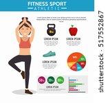 infographic fitness sport... | Shutterstock .eps vector #517552867