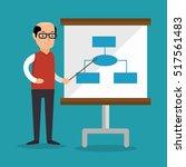 businessman teach presentation... | Shutterstock .eps vector #517561483