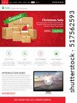 christmas sale web site landing ...   Shutterstock .eps vector #517562593