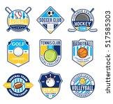 set of sport team logo. sport... | Shutterstock .eps vector #517585303