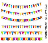 colorful party decorations... | Shutterstock .eps vector #517595863