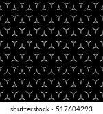 vector monochrome seamless... | Shutterstock .eps vector #517604293