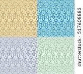 geometric waves pattern.... | Shutterstock .eps vector #517608883