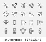 set of phone icons in modern... | Shutterstock .eps vector #517613143