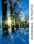winter nature                   ... | Shutterstock . vector #517613713