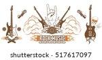 graphic set. symbol of rock... | Shutterstock .eps vector #517617097