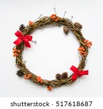 Christmas Wreath Of Grape Vine...
