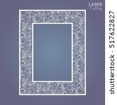 cutout paper lace frame  vector ... | Shutterstock .eps vector #517622827