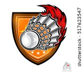 shuttlecock with fire trail in... | Shutterstock .eps vector #517623547