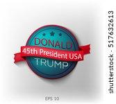 banner  poster  sticker donald... | Shutterstock .eps vector #517632613