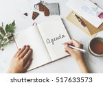 appointment agenda assignment...   Shutterstock . vector #517633573