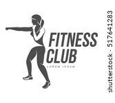workout logo. fitness  aerobic... | Shutterstock .eps vector #517641283