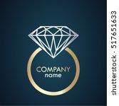 golden silver diamond ring...   Shutterstock .eps vector #517651633