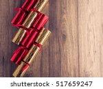 Christmas Crackers On Wood...