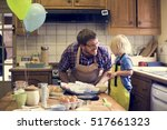 homemade baking holiday kid son ... | Shutterstock . vector #517661323