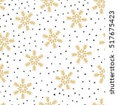 christmas seamless pattern with ... | Shutterstock .eps vector #517675423