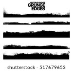hand drawn edges pattern... | Shutterstock .eps vector #517679653