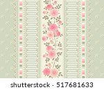 seamless floral background.... | Shutterstock .eps vector #517681633
