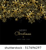 merry christmas happy new year... | Shutterstock .eps vector #517696297