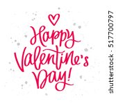 happy valentine's day. the... | Shutterstock .eps vector #517700797