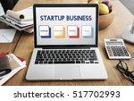 start up business strategy... | Shutterstock . vector #517702993